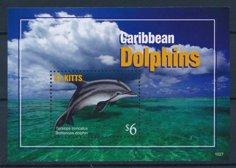 [36598] St. Kitts 2011 Marine life Dolphins MNH Sheet