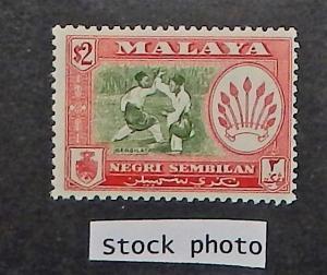 Malaya, Negri Sembilan 73a. 1957-63 $2 Pict perf. 12 1/2, NH