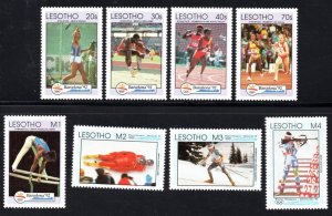 Lesotho - 1992 Olympic Games Set & MS MNH** SG 1108-1116