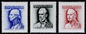 Slovakia Scott 83, 93-94 (1943-44) Mint H F-VF B