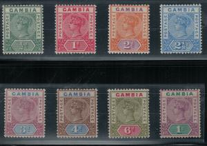 Gambia 1898 SC 20-27 Mint SCV $153.00 Set
