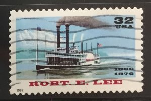 US #3091 Used F/VF - Robt. E. Lee Steamboat 32c