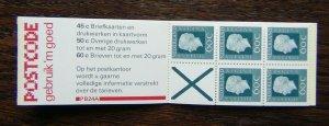 Netherlands 1969 3 Guilder Booklet 60c x 5 + label MNH