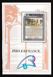 Nicaragua,  SW 3031,  MNH,  1989,  200th Anniv. French Revolution,  AA02134