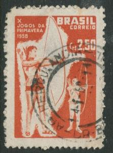 Brazil - Scott 880 - Spring Games -1958 - Used - Single 2.50cr Stamp