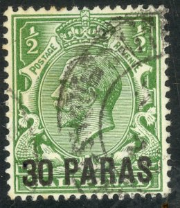 GREAT BRITAIN OFFICES IN TURKEY 1921 KGV 30pa on1/2d Portrait Issue Sc 55 VFU