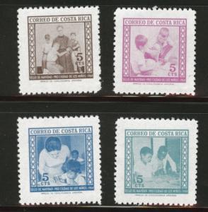 Costa Rica Scott RA20-3 MH* 1964 postal tax set