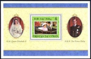 Tristan Da Cunha Sc# 611 MNH Souvenir Sheet 1997 QEII, Prince Philip Birthdays