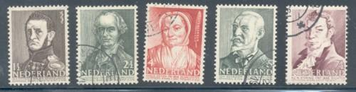 Netherlands Sc B134-8 1941 Charity stamp set used