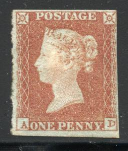 GREAT BRITAIN SC# 3 SG# 8 MINT HINGED AS SHOWN
