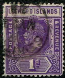 Leeward Islands SC# 64 / SC# 62 King George V, 1d, Used