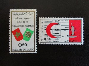 Morocco #97-98 Mint Never Hinged (L7H4) WDWPhilatelic