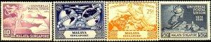 UPU, Universal Postal Union 75th Anniv, Malaya-Singapore SC#23-26 MNH set
