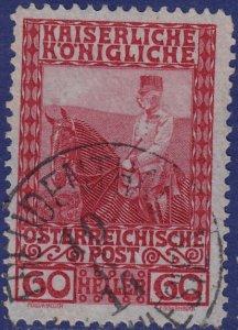 Austria - 1908 - Scott #122 - used - FREUDENTHAL pmk Czech Republic