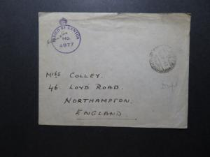 Egypt 1943 Active Service Censor Cover to England - Z11614