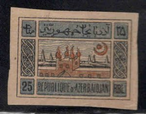 Azerbaijan Scott 9A MH* on Grayish paper