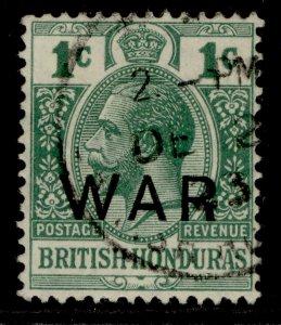 BRITISH HONDURAS GV SG119, 1c blue-green, VERY FINE USED. CDS