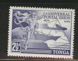 Tonga Scott 87 MNH** 1949 UPU  stamp