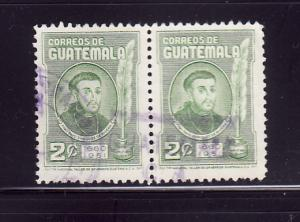 Guatemala 345 Pair U Payo Enriquez de Rivera, Bishop (F)