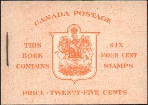 Canada - 1951 4c Orange Complete English Booklet #BK42a