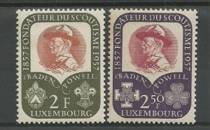 1957 Luxembourg Boy Scouts Girl Guides Baden Powell
