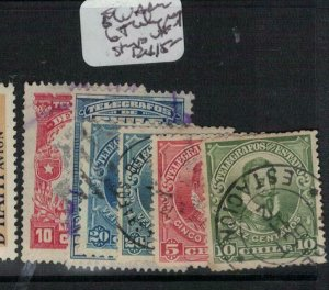 Chile Ecuador 6 telegraph stamps VFU (5ext)