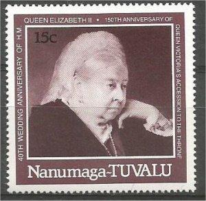 TUVALU, NANUMAGA, 1987, MNH 15c,  Queen Victoria  Scott 78