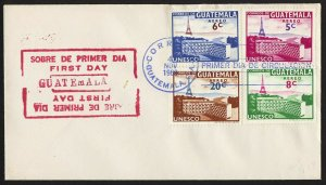 wc035 Guatemala UNESCO Air mail 1960 FDC first day cover