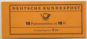 Germany Bund Scott # 708 (10), mint nh, stamp booklet Michel # MH6e