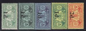 New Hebrides Scott # 26 - 30 VF original gum lightly hinged cv $ 20 ! see pic !