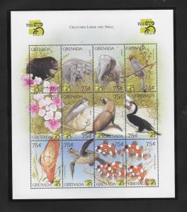 FISH, BIRDS,ANIMALS - GRENADA #2850  MNH