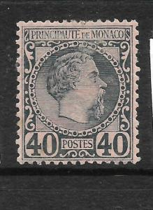 MONACO  1885  40c  SLATE    MLH  Sc 7