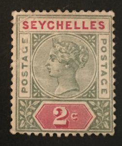 Seychelles Scott 1 Queen Victoria 2 Cent-Mint