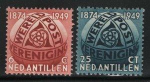 Netherlands Antilles 1949 75th UPU Anniversary set Sc# 206-07 NH