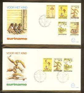 1984 - Rep. Surinam FDC E086AB - Childhood - Games - Child series [B33_100]