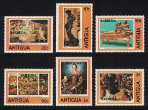 Barbuda Famous Works of Art 6v SG#521-526