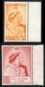 Kenya Tanganyika and Uganda 1948 Royal Silver Wedding SG157/8 U/M (MNH)