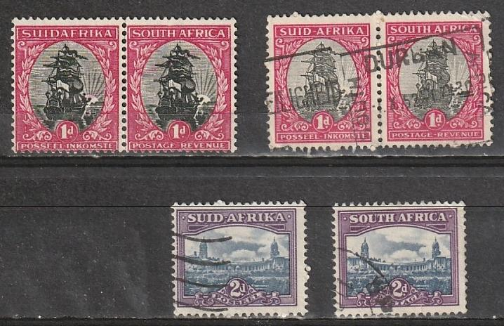 #24,26a,26b South Africe Mint NG & Used