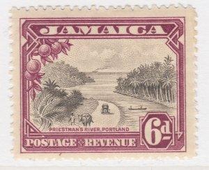 British Colony Jamaica 1932 6d Brown Wmk Mult Script CA MH* SG 113 A22P19F8958