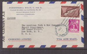 DOMINICAN REPUBLIC, 1944 Airmail Censored cover to USA, 3c. & 10c.