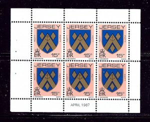 Jersey 261b MH 1987 Booklet Pane