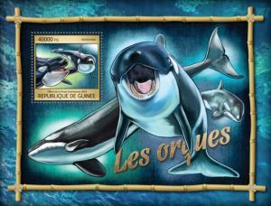 Guinea MNH S/S Orcas Marine Life 2016