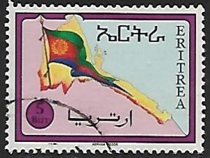 Eritrea # 230 Flag & Map of Eritrea - used  -{BR17}
