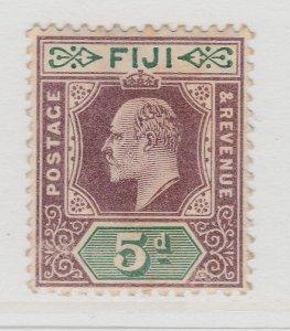 Fiji 1903 5d Wmk Crown CA MH* Stamp A22P14F8625