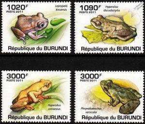 Burundi MNH 902-5 Frogs 2011 SCV 12.50