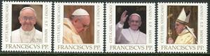 VATICAN Sc#1523-1526 2013 Pope Francis Complete Set OG Mint NH
