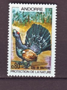 J22141 Jlstamps 1971 french andorra part of set mnh #203 bird