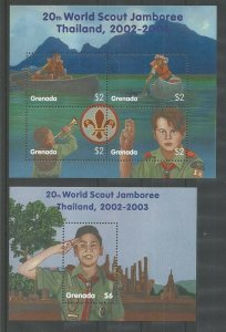 2002 Grenada Carriacou & Peitie Martinque World Scout Jamboree ss (2)