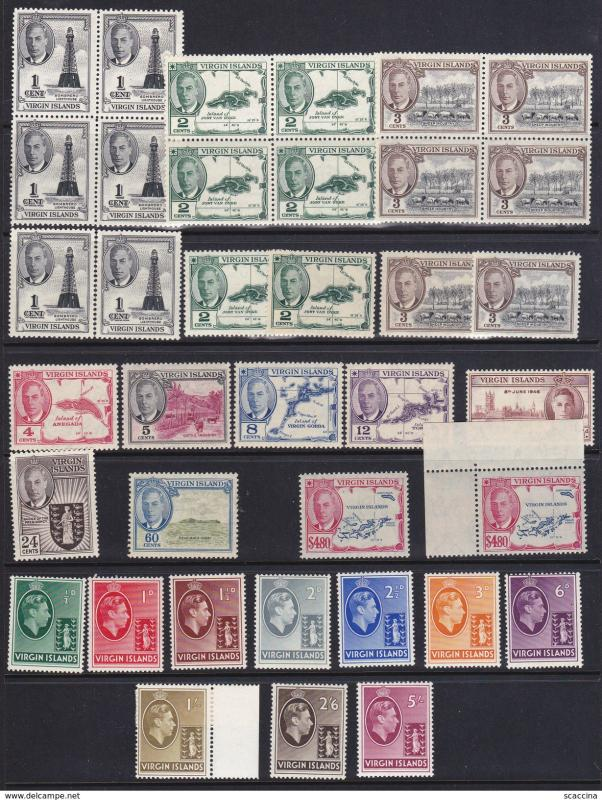 BRITISH VIRGIN ISLAND 1938-52 lot GIORGIO VI. MNH vhigh cv