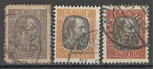 COLLECTION LOT OF # 1697 ICELAND 3 STAMPS 1902 CV+ $22